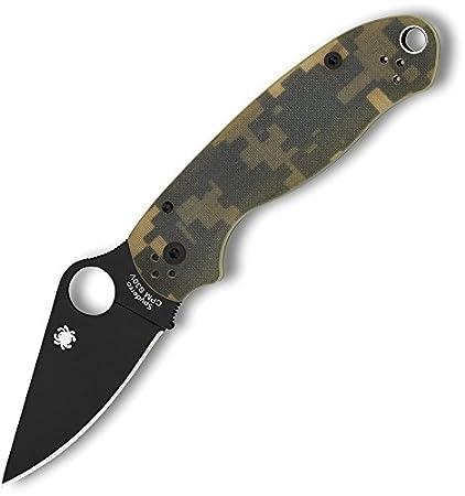 Spyderco C223GPCMOBK Para 3 Plain Black / Camo G-10