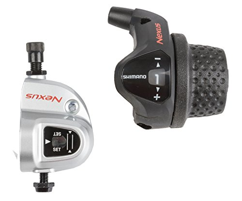 Nexus Shifter (Shimano Nexus 3-Speed Twist Shifter Set, Black)