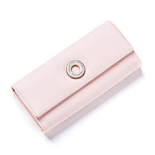Portefeuilles Sac Carte la De Pink Poche Cluth Argent Portefeuille Dames Long Hasp Titulaire Mode Coin de Femme Portefeuilles Femmes wZBqAB