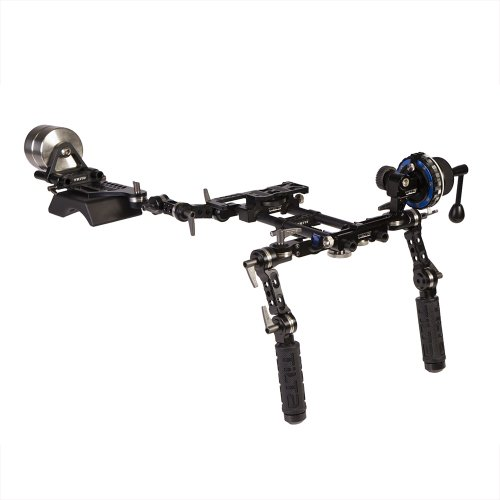 Ikan TT-03-TL DSLR Shoulder Rig w/ Follow Focus and Counter Weights by Tilta