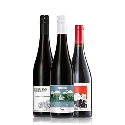 GEILE WEINE Weinpaket Rotwein trocken klein (3 x 0,75l) Bester Rotwein aus Deutschland, Frankreich und Portugal