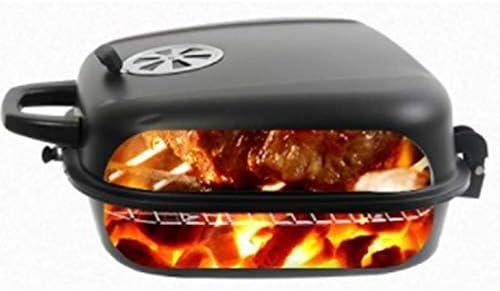 Barbecue Grill Barbecue Grill-Charbon de Bois Pique-Nique Portable Petit Grill extérieur ménage Portable Portable Bois Charbon de Bois Grill Simple Pliant Petit Grill @