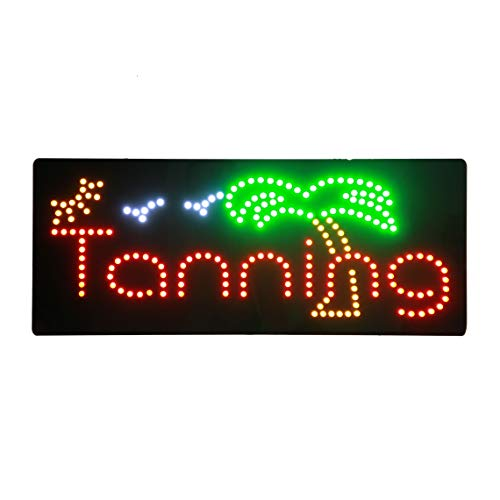 - LED Tanning Spa Salon Open Light Sign Super Bright Advertising Display Board for Beauty Salon Business Shop Store Window Bedroom Decor 32 x 13 inches