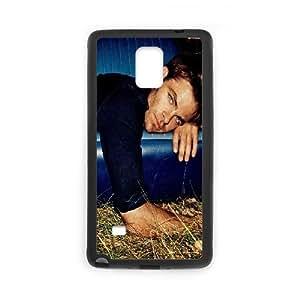 Chris Pine,handsome Samsung Galaxy Note 4 Case, Case Stevebrown5v {Black}