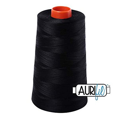 Aurifil 2692 Mako 50 Wt 100% Cotton Thread, 6,452 Yard Cone Black by Aurifil