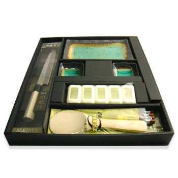 Japanese 9 piece Sushi Dinner Set Green by JapanBargain