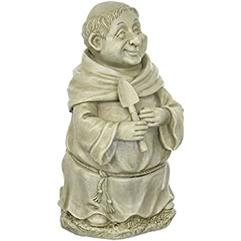 Terrific Medieval Friar Monk With Shovel Garden Figure Creativecarmelina Interior Chair Design Creativecarmelinacom