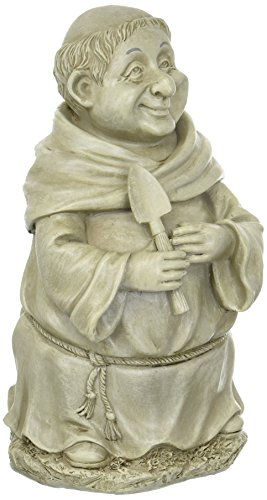 Medieval Friar Monk with Shovel Garden Figure