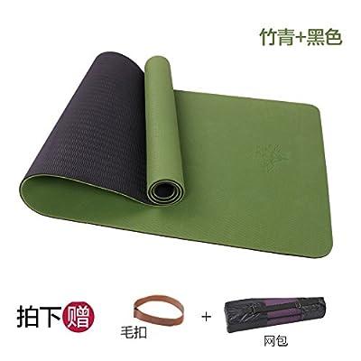 YOOMAT Tpe double élargissement Tapis de Yoga 66cm d'épaississement et de débardage et Unskidding et le déchirement de la condition physique professionnelle Pad