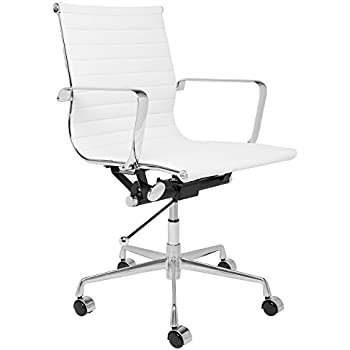 eames office chair dwr herman miller aeron style ribbed management white
