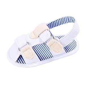 Esterilización Zapatos de niñas princesa bebé lienzo CUTE t-tied suave Prewalker suave sandalias