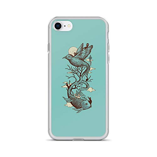 (iPhone 7/8 Case Anti-Scratch Creature Animal Transparent Cases Cover Escape from Reality Animals Fauna Crystal Clear)