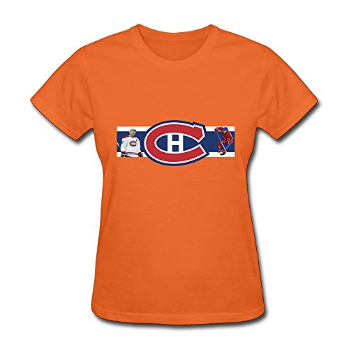 Montreal Canadiens Wallpaper 1440x900 Women's Tee Shirts Orange Size XL