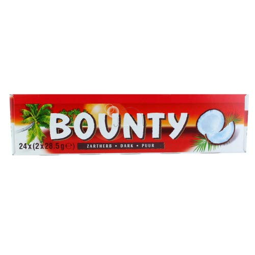 Bounty Zartherb Dark, 1 pack with 24 bars (24 x 57 g)
