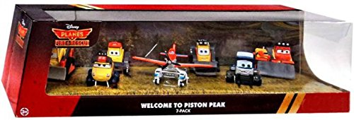 (Disney PLANES: Fire & Rescue Exclusive 1:55 Deluxe Die Cast 7-Pack Welcome to Piston Peak [Pontoon Dusty, Maru, Dynamite, Pinecone, Avalanche, Drip & Blackout])