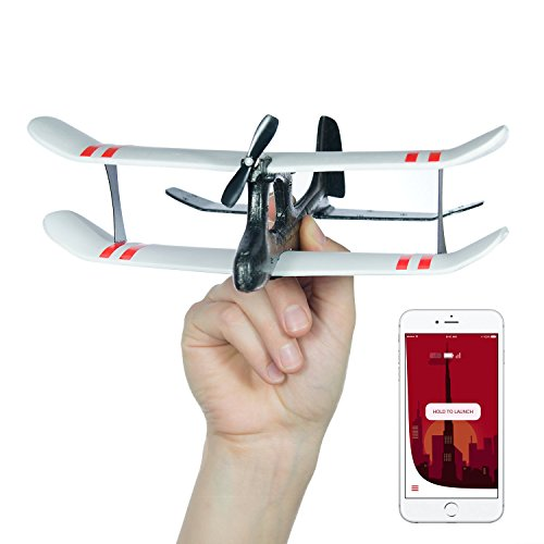 artphone App Controlled Airplane - remote controlled drone for iOS & Android with joystick, biplane, double-decker, rc plane for beginners, adults, kids, very durable, crash-proof ()
