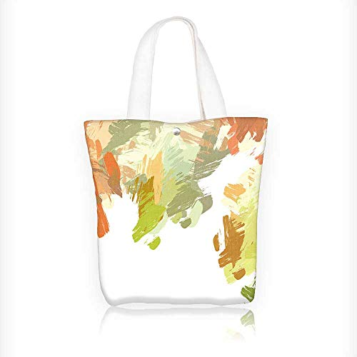 Brushed Canvas Mushroom - Stylish Canvas Zippered Tote Bag brushed painted background brush stroked paint Shopping Travel Tote Bag W11xH11xD3 INCH