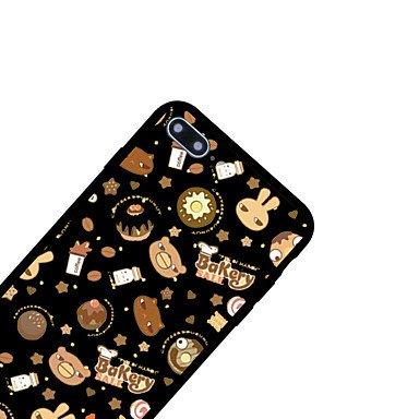 Fundas y estuches para teléfonos móviles, para la caja cubrió la contraportada del caso de la contraportada del patrón de la caja alimento duro del acrílico para el iphone de la ( Modelos Compatibles  IPhone 6s Plus/6 Plus