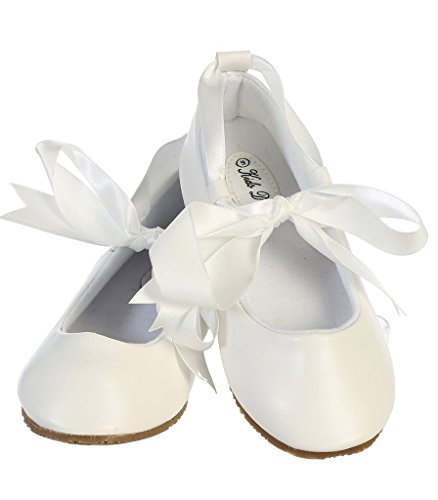 iGirlDress Dazzling Ballerina Flats Shoes with Satin Ribbon Ties 12 -