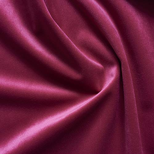 - Solid Drapery/Upholstery Soft Velvet Fabric Color Raspberry by The Yard