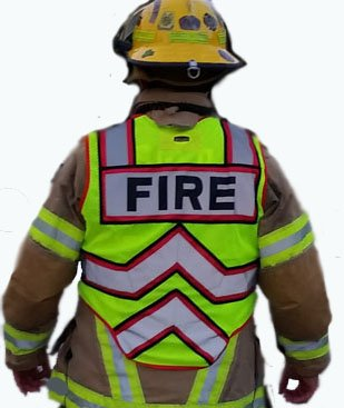 Public Safety Apparel - ULTRABRIGHT RED-FIRE 6 Point Breakaway Public Safety Vest - OVERSIZE (REGULAR)