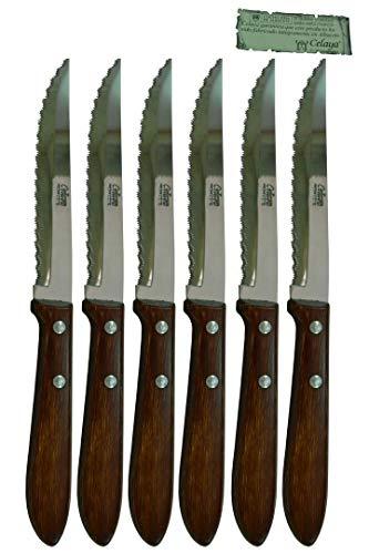 Cuchillos de mesa Madera Celaya Sierra Lote 6 Uds.