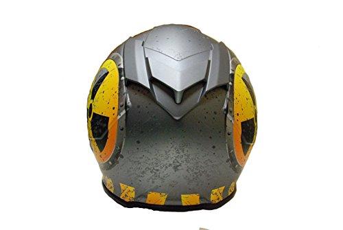 TORC T14B Bluetooth Integrated Mako Nuke Full Face Helmet (Flat Grey, Medium)