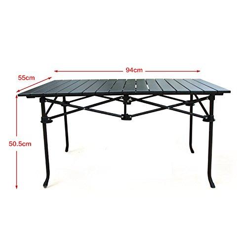 MCCOutdoor Tisch Alu Klapptisch BBQ tragbare Klapptische und Stühle für camping und Freizeit Möglichkeiten stall Tabelle