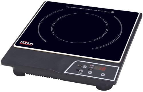 Max Burton 6000 1800-Watt Portable Induction Cooktop, Black