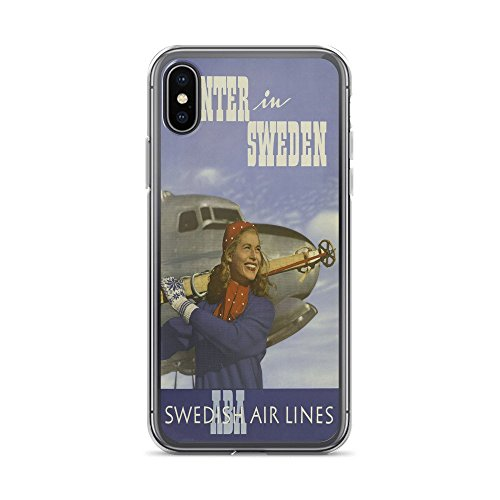 (Vintage Poster - Winter in Sweden 1747 - iPhone XR Phone Case)