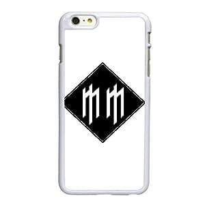 Funda iPhone 6 6S caso del teléfono celular de 4.7 pulgadas funda blanca Marilyn Manson logo F0J7XM
