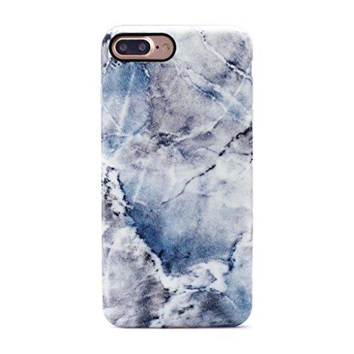 GOLINK iPhone 7 Plus Case/iPhone 8 Plus Marble Case, MATTE Marble Series Slim-Fit Anti-Scratch Shock Proof Anti-Finger Print Flexible TPU Gel Case For iPhone 7/8 Plus - Blue Ice