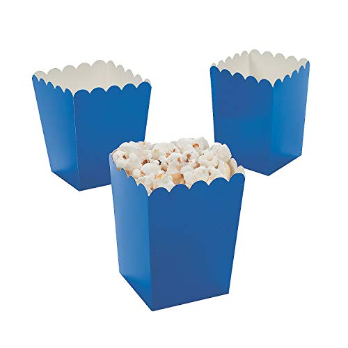 Party Favor Popcorn Boxes (Fun Express Mini Popcorn Boxes - Blue (24 Pcs.) - Goody Bags & Birthday)