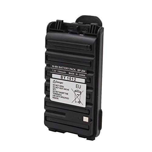 BP264 BP-264 Ni-MH Battery 1500mAh Rechargeble Battery for ICOM Radio IC-V80 IC-U80 BP265 IC-F3101D IC-F3103D IC-F4101 (FBA) by Yeacomm