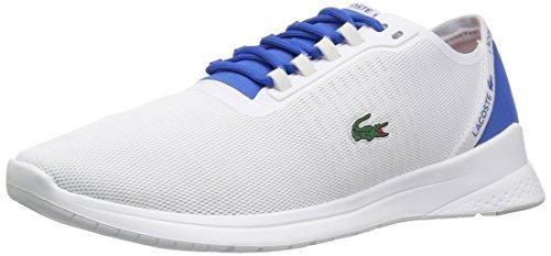 Lacoste Men's Lt Fit 118 4 Sneaker, White/Blu, 10 M US (Blu Mens Sneakers)