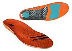 The multi sport insole provides performance cushioning for the critical heel and forefoot areas.