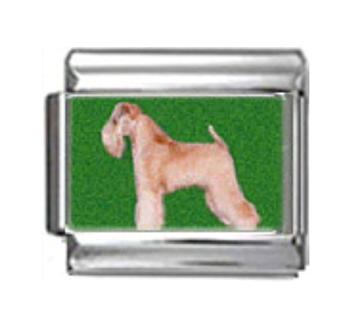 Stylysh Charms Wheaten Terrier Dog Photo Italian 9mm Link DG397