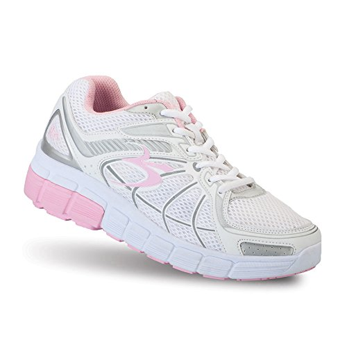 Gravity Defyer Women's G-Defy Super Walk Pink White Athletic Shoes 8 M US Shock Absorbing Shoes for Plantar Fasciitis Shoes for Heel Pain