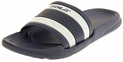 Gola Mens Sliders Slip On Summer Holiday Pool Beach Sandals Navy & White...