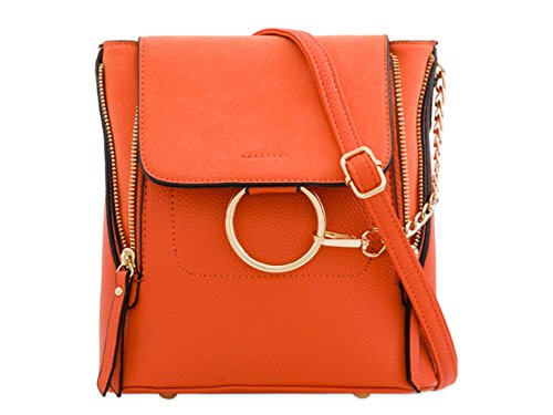 Bags Cross Women's LeahWard Leather Night Out 897 Body Faux Suede Handbag Orange Holiday wvw4qIBc1U