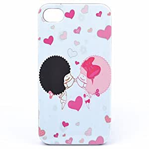 Nsaneoo - ABS Kiss Lovers Back Case for iPhone 4/4S