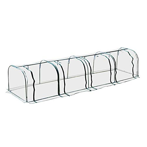 Outsunny 13' L x 3.25' W x 2.5' H PVC Metal Tunnel Cloche Garden Greenhouse Kit by Outsunny (Image #1)