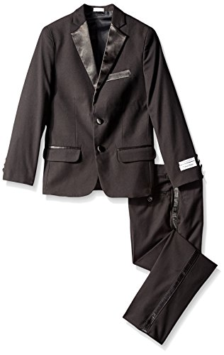 Calvin Klein Big Boys' Tuxedo Suit, Black, 18