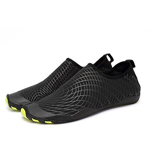de D Agua Agua Playa Secado de Natación Color Rápido Unisex de Zapatos Calzado Soles Zapatos de schwarz Piscina LeKuni de Respirable qSf71tw