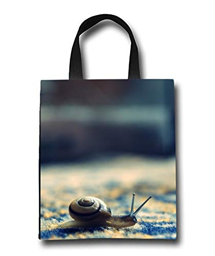 Little Snail Beach Tote Bag - Toy Tote Bag - Large Lightweight Market, Grocery & Picnic by Linhong