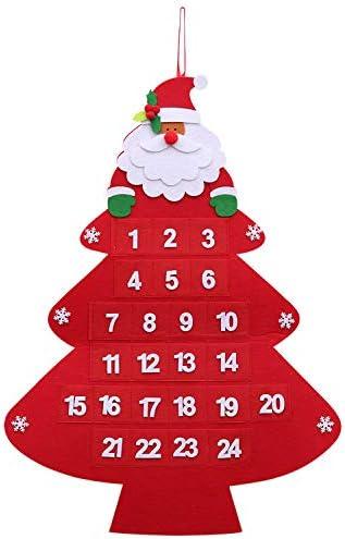 [해외]Little World Christmas Advent Calendar 2019 3D Santa 24 Day Hanging Advent Calendar Xmas Countdown to Christmas Decorations Perfect for Home or Office / Little World Christmas Advent Calendar, 2019 3D Santa 24 Day Hanging Advent Ca...
