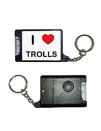 I Love Trolls - Black Torch Key Ring