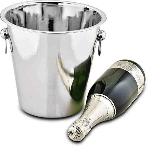 Balde Para Champanhe Bebidas Inox 21 Cm