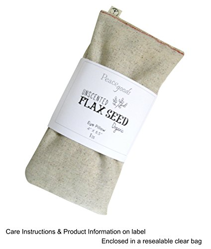 Unscented Flax Eye Pillow - Natural Cotton - Organic 4 x 8.5 - Soothing Relaxing - Yoga Massage Meditation Sleep Aid Migraine Relief - beige tan by Peacegoods (Image #3)