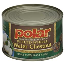 Polar Water Chestnuts, Peeled Whole, 8-Ounce (Pack of 12)